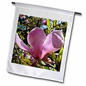 Patricia Sanders Flowers - Pretty Pink Magnolia Flower- Spring Photography - 12 x 18 inch Garden Flag (fl_40183_1)