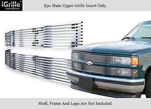APS Fits 88-93 Chevy C/K Pickup/92-93 Suburban/Blazer Stainless Billet Grille #C85245C - Billet Chevrolet Suburban Grille C1500