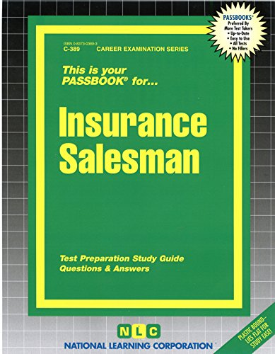 Download Insurance Salesman(Passbooks) (Passbook for Career Opportunities) Pdf