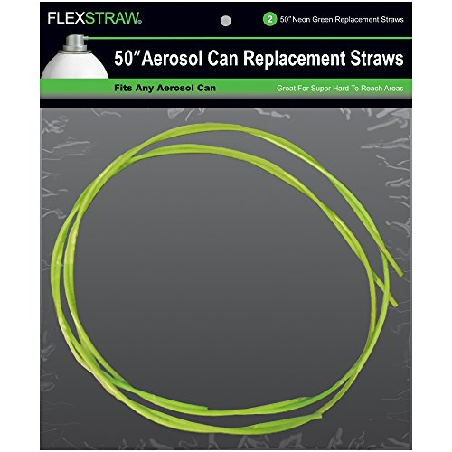 Tube Replacement Neon - ShopStraw FS250 FlexStraw Aerosol Can Replacement Straws, Neon Green, 50