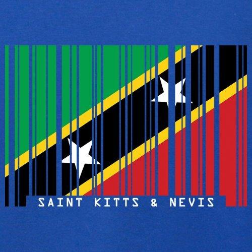 Saint Kitts and Nevis / St. Kitts und Nevis Barcode Flagge - Herren T-Shirt - Royalblau - XL