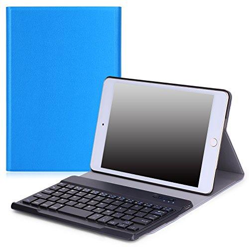 MoKo Case for Apple iPad Mini 4 - Wireless Keyboard Cover Case for iPad Mini 4 (2015 edition) 7.9 inch iOS Tablet, BLUE by MoKo