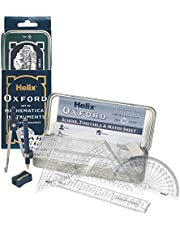 """Maped Z38XH0 Helix Oxford 10 Piece Math Set, Compass, 6"""" Ruler, Protractor, and More"""