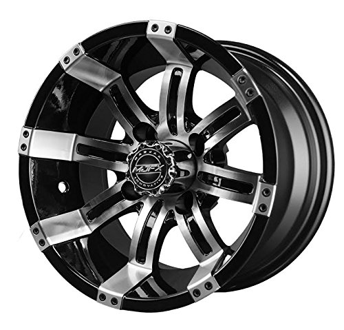 Bundle - 9 Items: Madjax Octane Machined Golf Wheels 14'' 23x10-14 X-Trail Tires [for E-Z-GO & Club CarGolf Carts] by Powersports Bundle (Image #1)