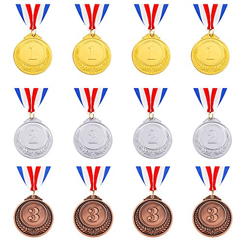 Caydo 12 Pieces Gold Silver Bronze Award Medals - Olympic