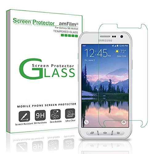 amFilm Galaxy S6 Active Tempered Glass Screen Protector for