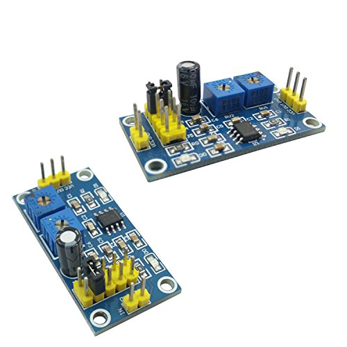 Initeq  2 Pack Ne555 555 Timer Breakout Module Adjustable Square Wave Pulse Generator Shield