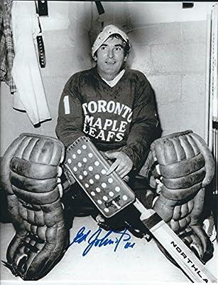 Autographed Ed Johnston 8X10 Toronto Maple Leafs Photo