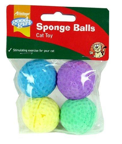 Good Girl Sponge Balls Cat Toy (4 Pack)