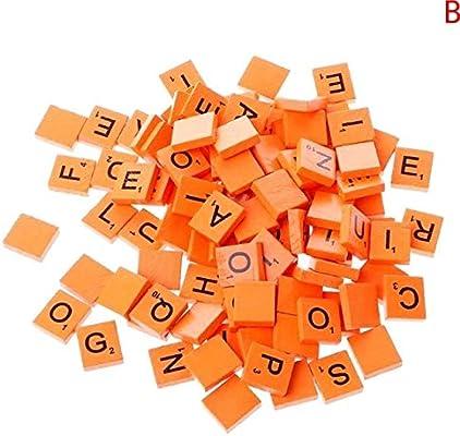 Maslin LAW5868 - Juego de 100 piezas de madera para Scrabble Tiles Mix Letras Barnizadas con alfabeto Scrabbles: Amazon.es: Juguetes y juegos