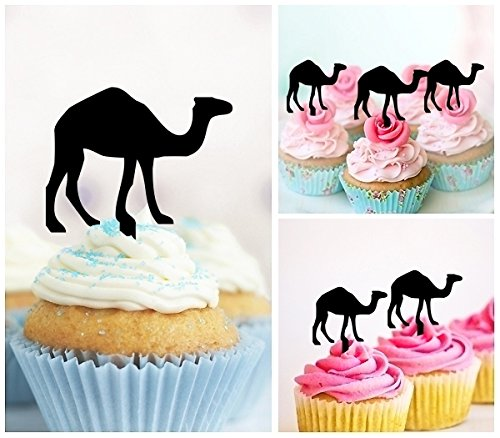 TA0321 Camel Silhouette Party Wedding Birthday Acrylic Cupcake Toppers Decor 10 pcs by jjphonecase