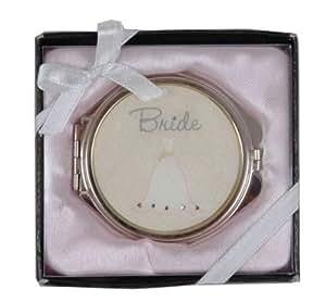 "Mirror Compacts- Bride"" Boxed Wedding Gift"