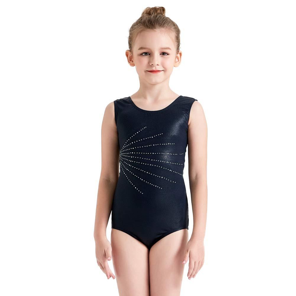 Justaucorps Leotards de Danse Ballet sans Manches pour Fille Enfants 3-15Ans BOBORA Justaucorps de Gymnastique Filles