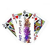Salt Lake City America City Watercolor Poker Playing Cards Tabletop Game Gift