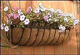 Standard Scroll Hay Rack Window Basket w/ Coco Liner - 60 Inch