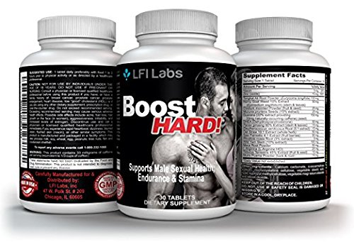 Male Enhancement Supplement Super Stack — Boost for Him & Boost Hard — Ultimate Enhancing Pills for Increasing Size. Men's Test Boosting Caps for Gains. Horny Goat Weed + Maca Root by LFI Labs (Image #1)