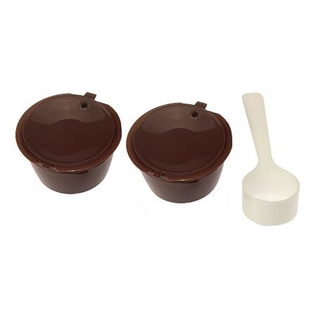 Hemore - Cápsulas de café Recargables para Nescafe Dolce Gusto Reutilizable Cápsula Dolce Cup Filter-E001