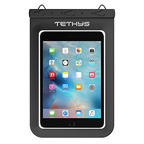 Universal Waterproof Case, TETHYS Waterproof Dry Bag for iPad Mini Retina, Mini 3, 4, Nexus 7(FHD), Galaxy Tab 2 3 4 5 and Other Table up to 8.8 inches - Black