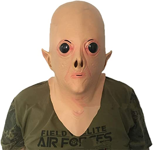 Moolo Halloween Máscara Máscara de Cabeza de látex, Alien Ojos ...