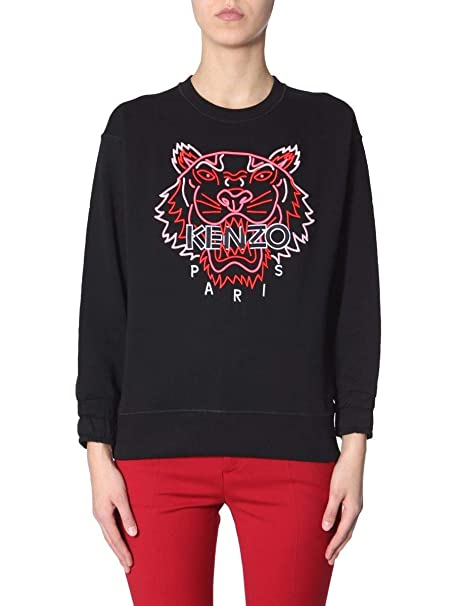18252fd5 Kenzo Women's F952SW7854XF99 Black Cotton Sweatshirt: Amazon.co.uk: Clothing