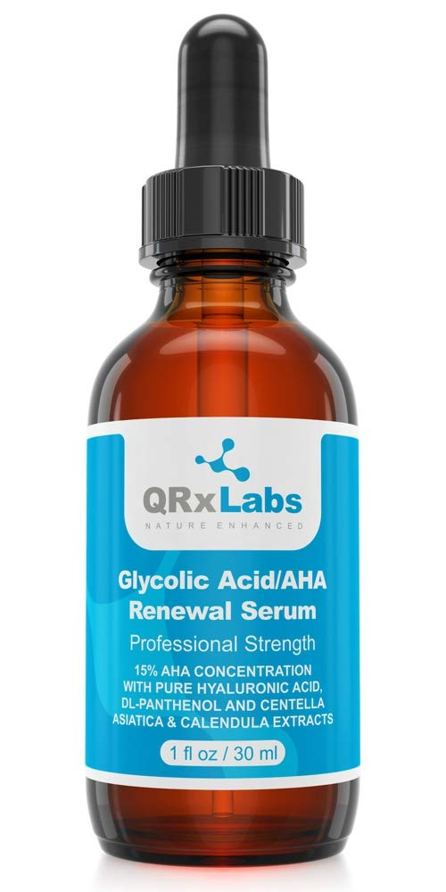 Glycolic Acid/AHA 15% Renewal Serum - Intensive Brightening, Smoothing, Exfoliating Serum for Night or Day - Fine Lines and Wrinkles Treatment - 1 fl oz bottle