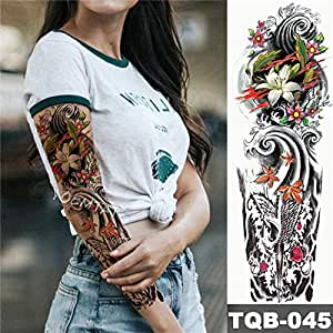 Tatuaje de la manga del brazo grande Katrina Skull Girl Etiqueta ...