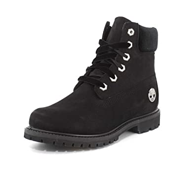 997b71c543 Timberland Women s 6 quot  Premium Leather and Fabric Waterproof Boot Black  Nubuck Velvet ...