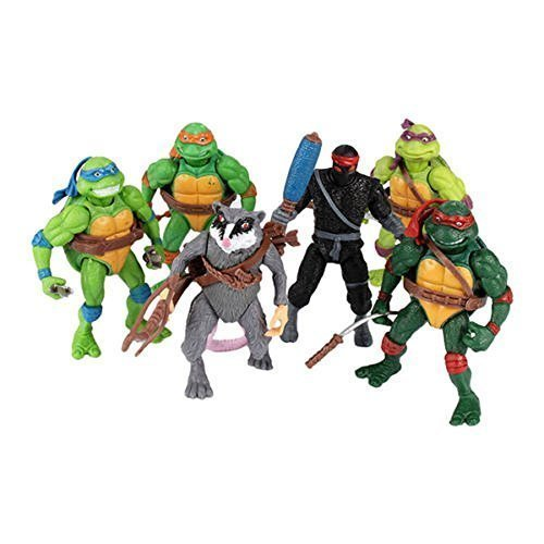 Classic Collection- 6pcs Tmnt Teenage Mutant Ninja Turtles Figure Action Toy Set (Boys Tmnt Casey Jones Classic Costume)