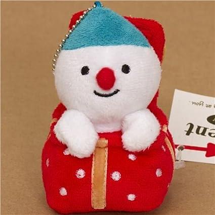 Bonito muñeco de nieve de peluche de Navidad