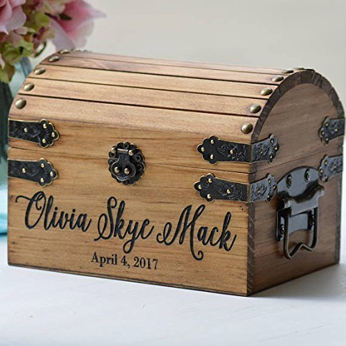 New Baby Gift Box, Infant Keepsake Box, Small Memory Trunk, Boho Shower Gift for Mom Ideas, Custom Engraved Treasure Chest For Newborn