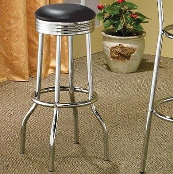set of 2 50u0027s retro nostalgic style black bar stools