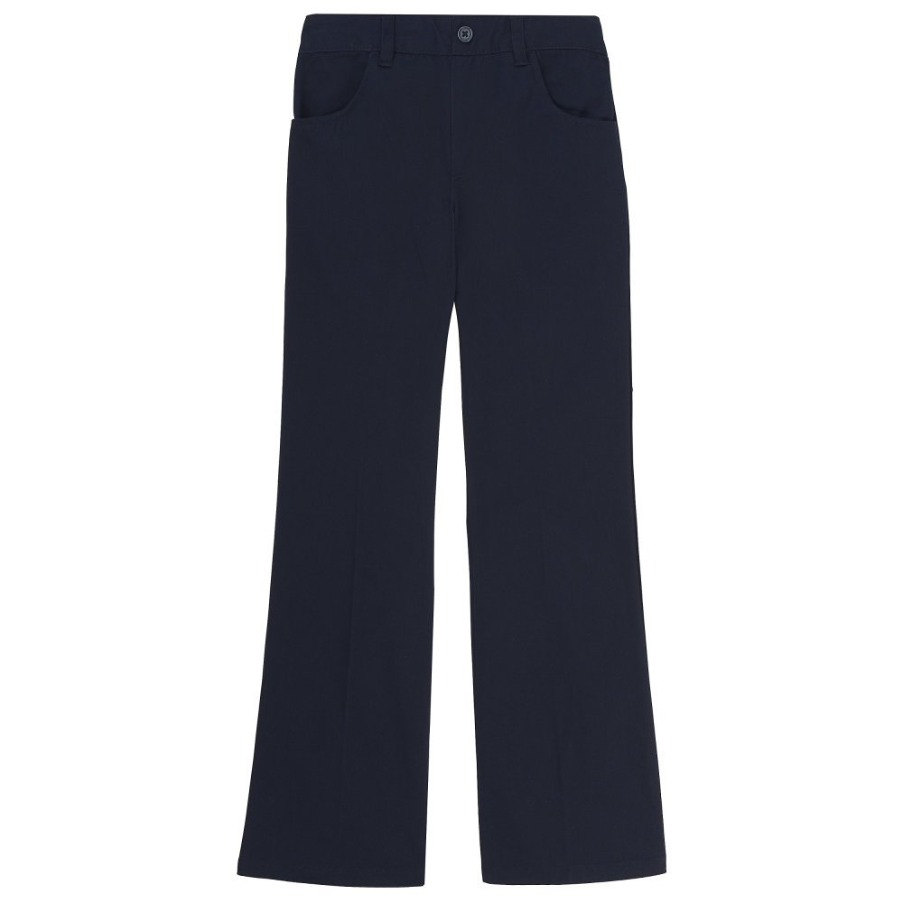 French Toast Plus Girls Twill Pull-On Pant, Navy, 14.5 Plus