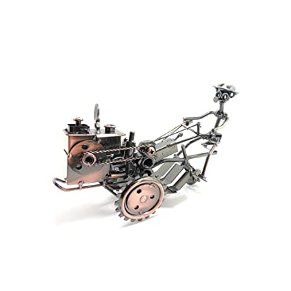 Guyuexuan Decoración de escritorio, hierro forjado Tractor Modelo ...
