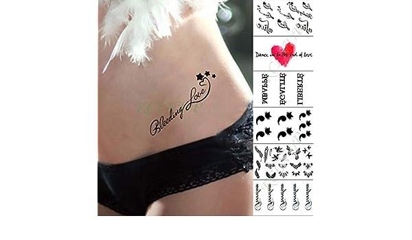 ljmljm 3 Unids Impermeable Etiqueta Engomada del Tatuaje ...