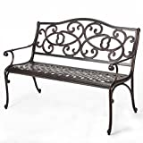 Christopher Knight Home 297261 Gael Cast Aluminum Garden Bench, Copper