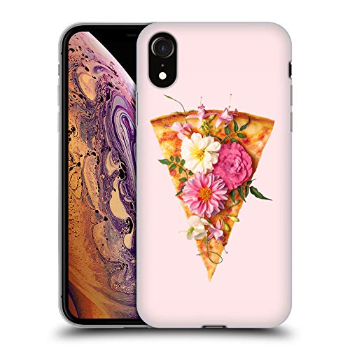 Official Paul Fuentes Floral Pizza Pastel 3 Soft Gel Case Compatible for iPhone XR