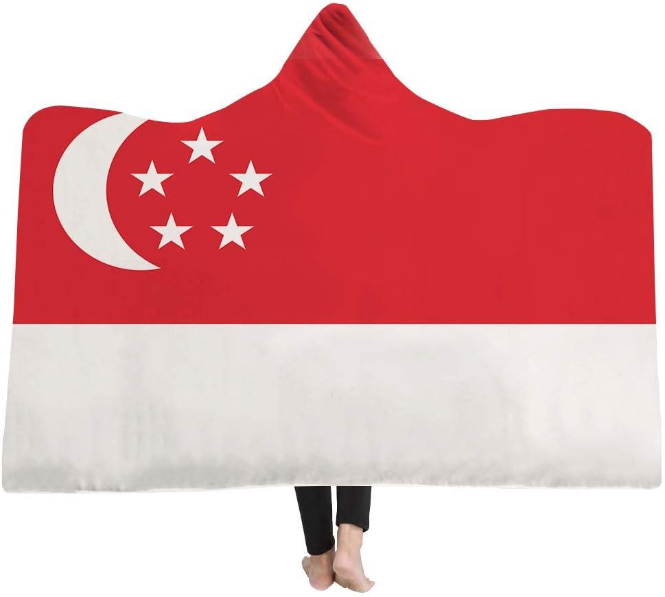 ahliwei Manta De La Capucha Cubo Manta Mágica Manta Más Grueso Doble Felpa 3D Serie De La Bandera De Impresión Digital Se Puede Personalizar 150x200 Singapur: Amazon.es: Hogar