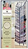 Paula Deen Shoe Organizer - Over The Door 30 Pocket Shoes Storage With Large Compartments for Side by Side Storage - Fits Any Standard Door & Easy to Attach Inside Your Closet