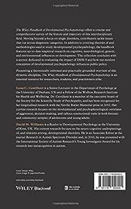 The Wiley Handbook of Developmental Psychopathology (Wiley Clinical Psychology Handbooks)