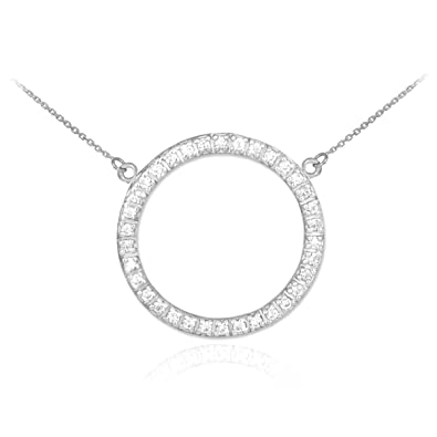 ben pave bridge circle pav jewelry jeweler diamond necklace