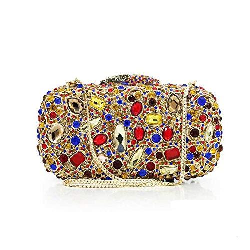 Sera Le Pochette Cerimonia Di Jingchangjidianshebei Cristallo Da Oro Borse Donna Donne Oro Per Borsa colore UpRwxS