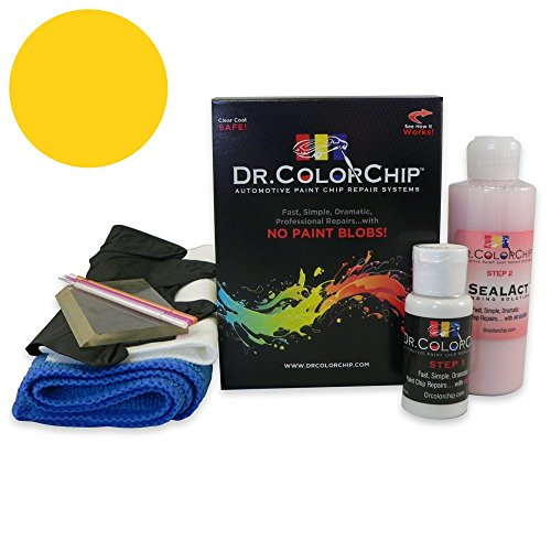Dr. ColorChip Dodge Ram Truck Automobile Paint - Tequila Sunrise Pearl PJA - Squirt-n-Squeegee Kit (Tequila Squirt)