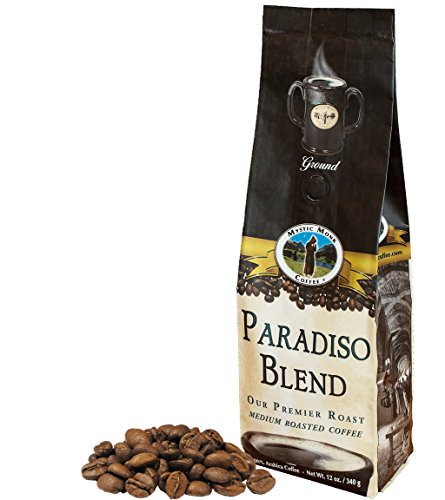 Mystic Monk Coffee: Paradiso Blend Whole Bean (Medium Roast 100% Arabica) - 12 ounce bag