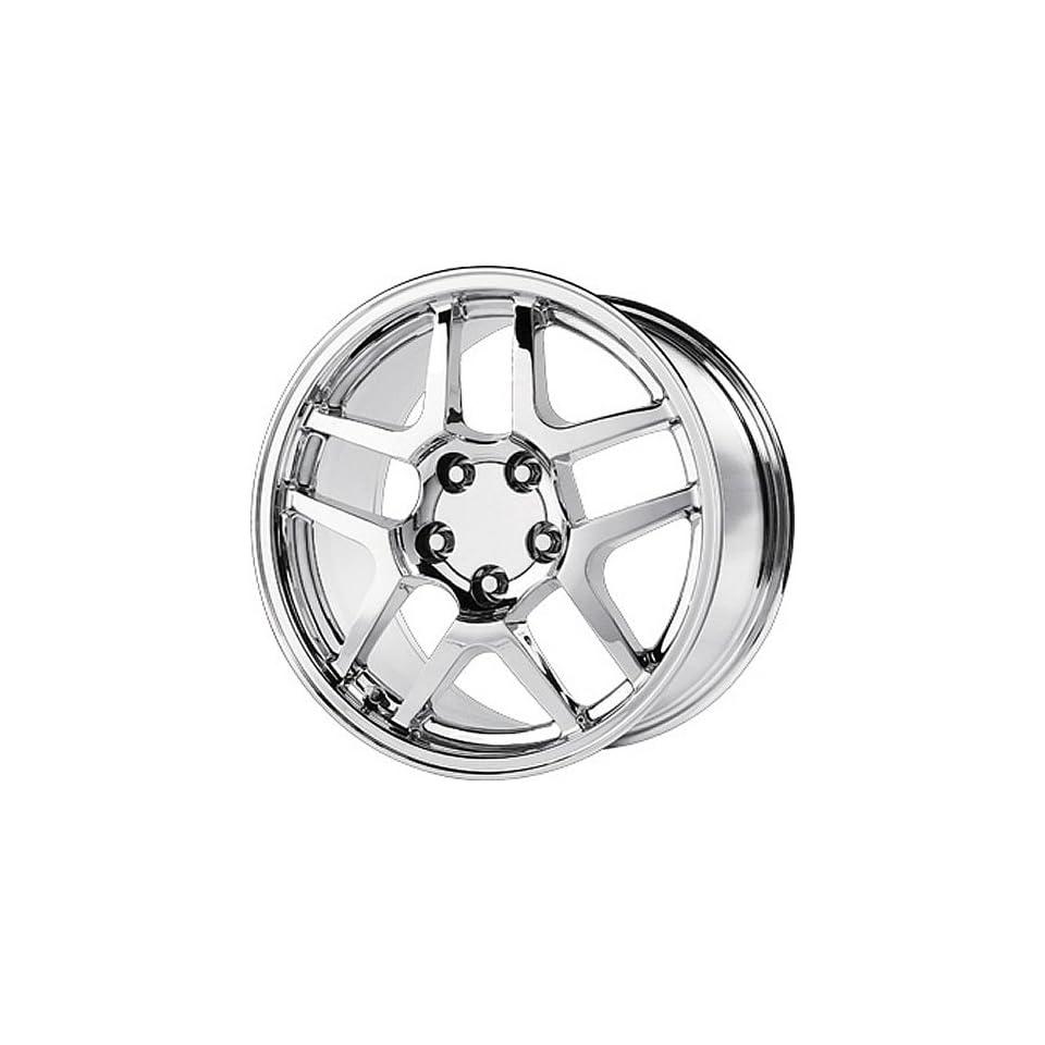 Strada Replicas 105 18 Chrome Wheel / Rim 5x4.75 with a 56mm Offset and a 70.7 Hub Bore. Partnumber 105C 896156
