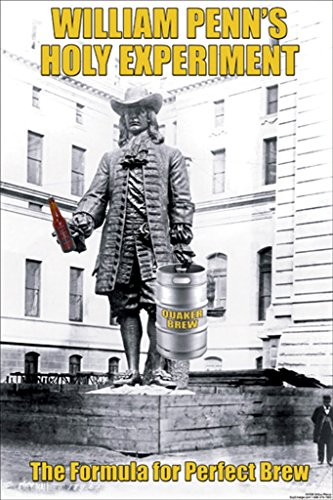 - ArtParisienne William Penn's Holy Experiment The Formula for Perfect Brew 24x36-inch Paper Giclée Print