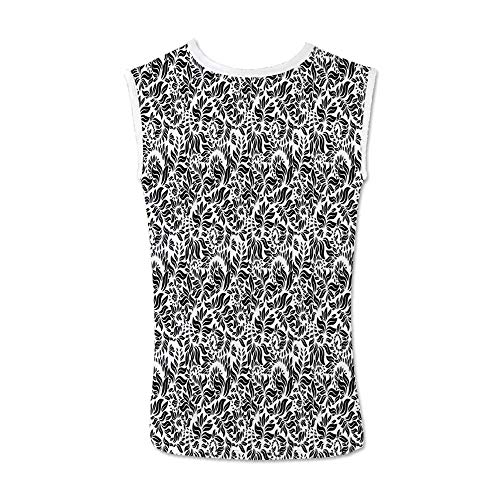 - Floral Comfortable Tank Top,Modern Flower Herbs Plants Woodland Flourish Branches Leaves Nature Illustration for Men,L