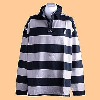 John Bradley, 186616, langarm Polohemd Poloshirt, navy offwhite, 6XL  5595  9343b960d5
