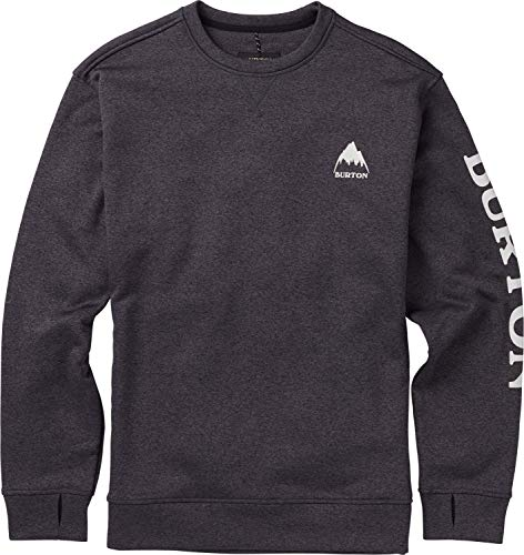 Burton Men's Oak Crew Sweatshirt, True Black Heather W19, Large