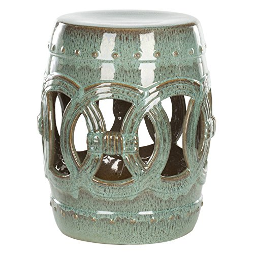 Safavieh Ceramic Double Coin Outdoor Garden Stool Top