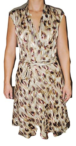 Jones New York Collection Woman Sleeveless Top - Jones New York Women's Sleeveless Dress Size 14 Beige Brown